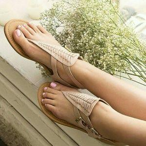 Shoes - Boho sandle - NUDE